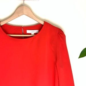 Red LOFT Blouse